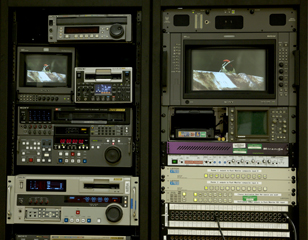 The Macaulay Library video editing rack